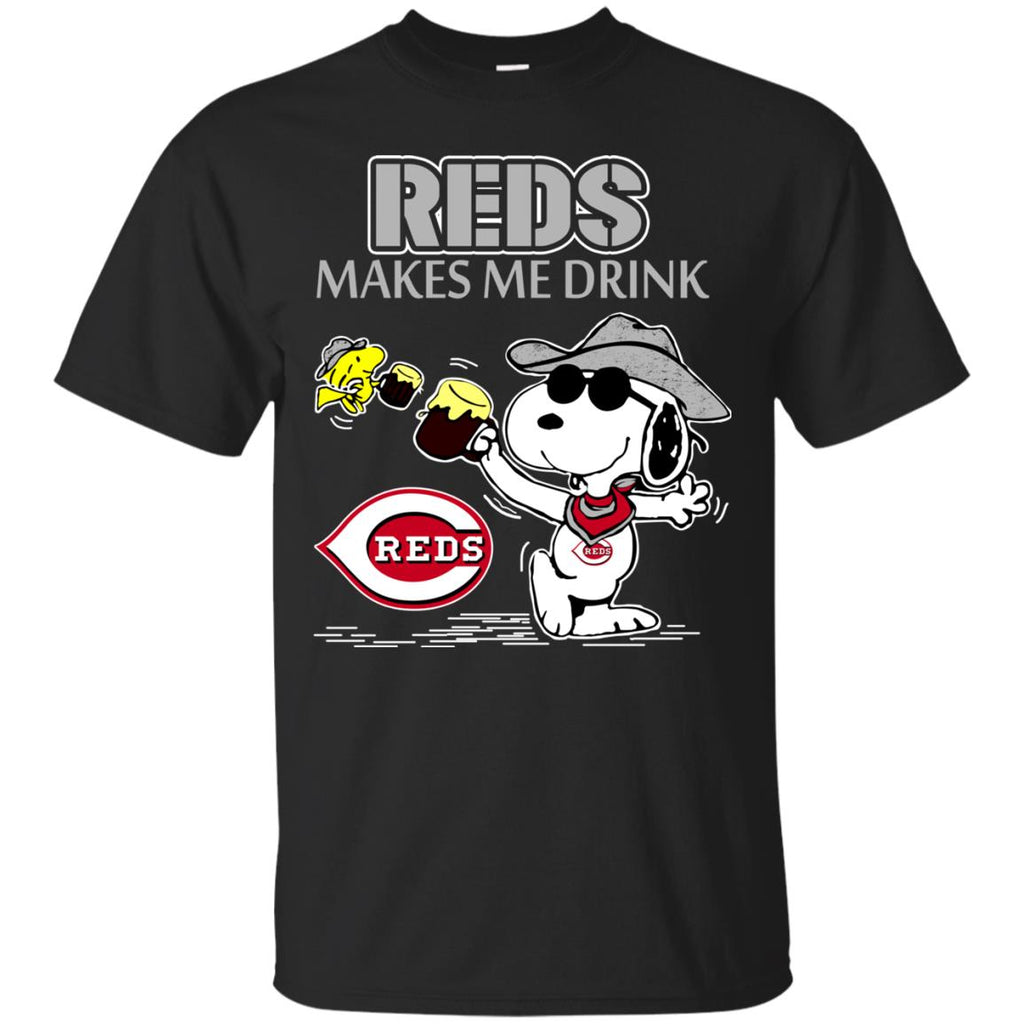 Cincinnati Reds Makes Me Drinks T Shirts