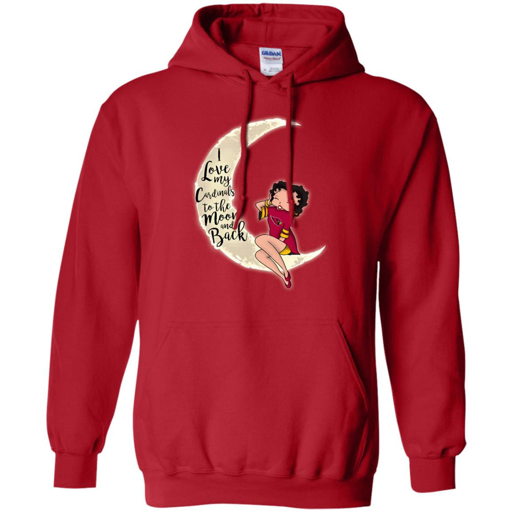 BB I Love My Arizona Cardinals To The Moon And Back T Shirt - Best Funny Store
