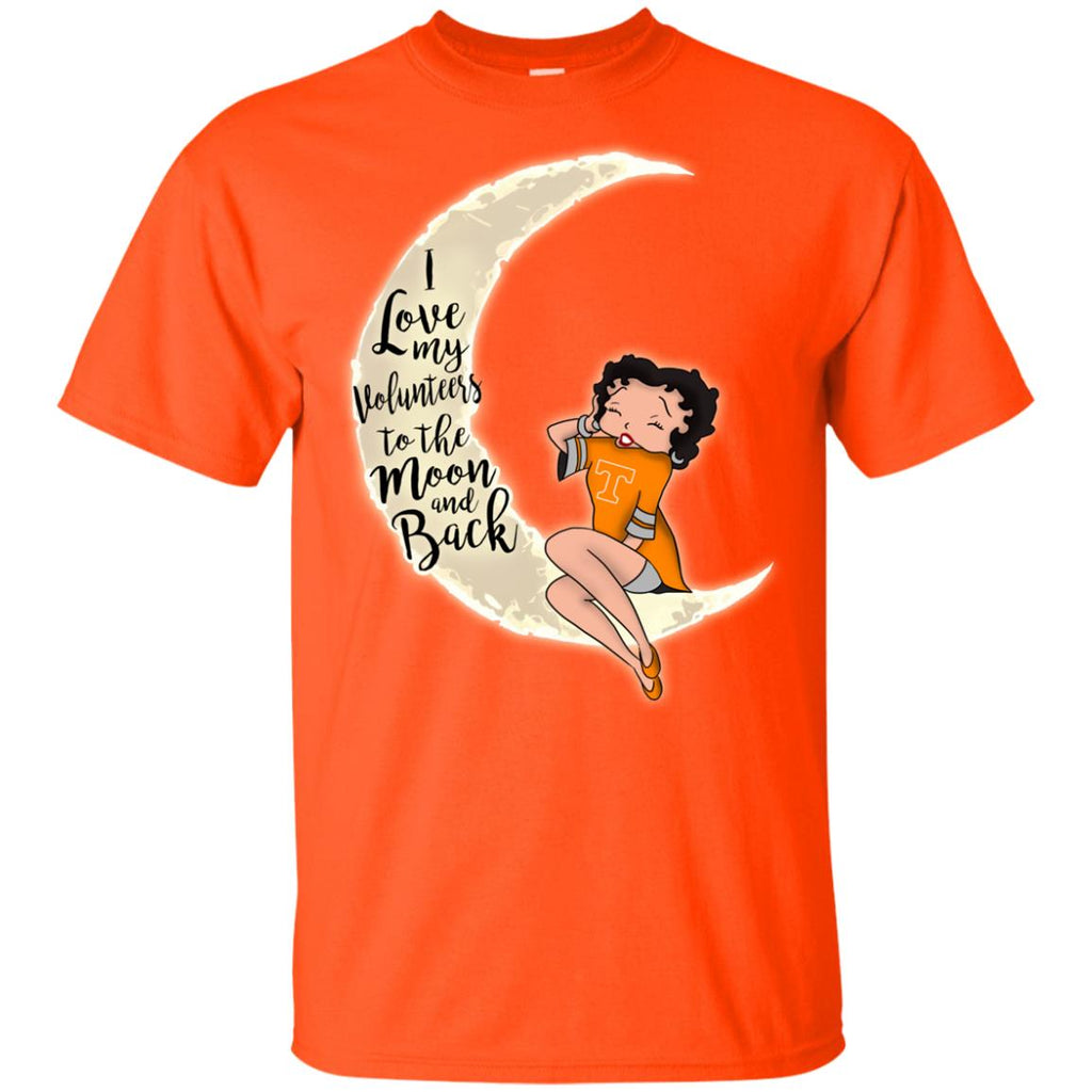 BB I Love My Tennessee Volunteers To The Moon And Back T Shirt