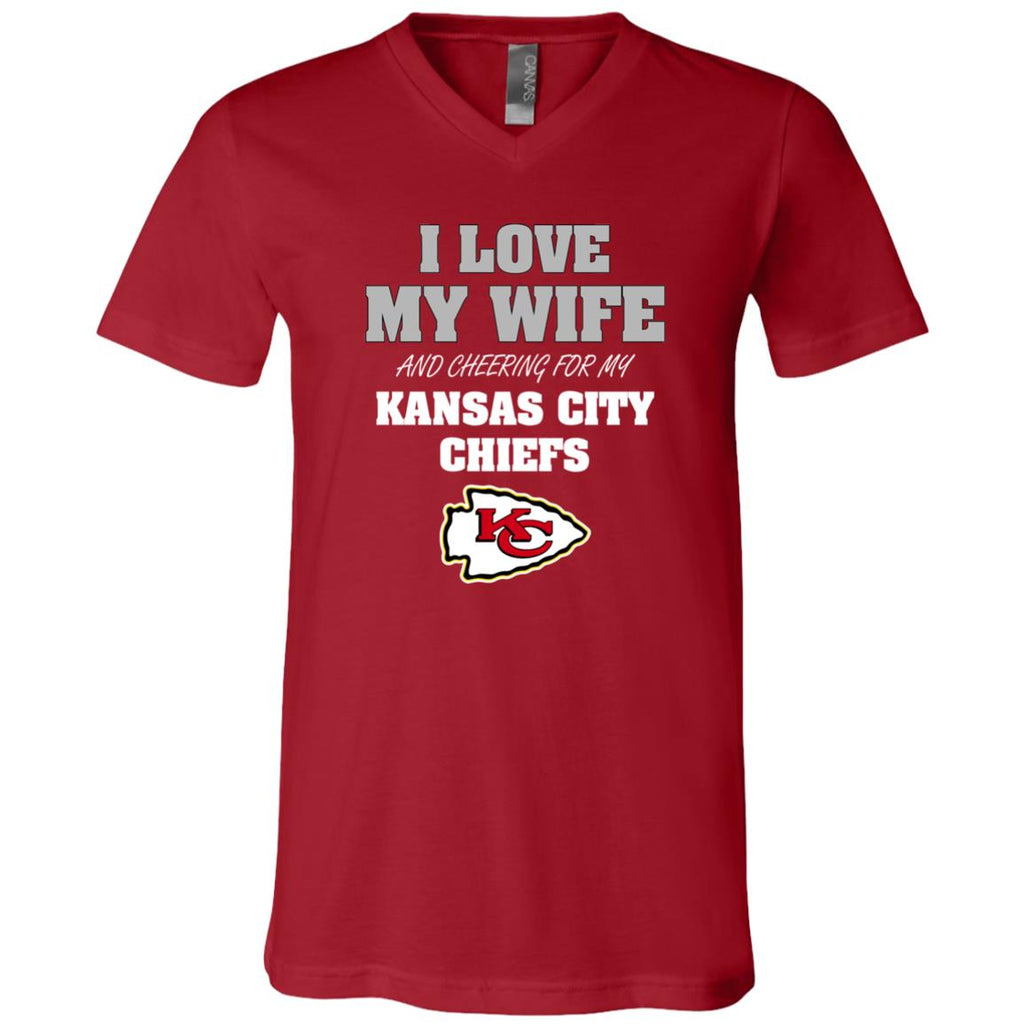 I Love My Wife And Cheering For My Kansas City Chiefs T Shirts