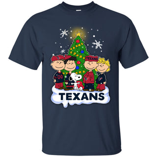 Snoopy The Peanuts Houston Texans Christmas T Shirts