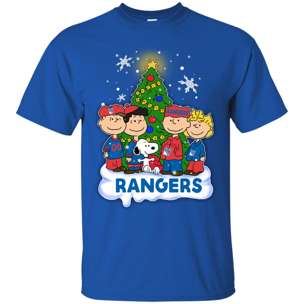 Snoopy The Peanuts New York Rangers Christmas T Shirts