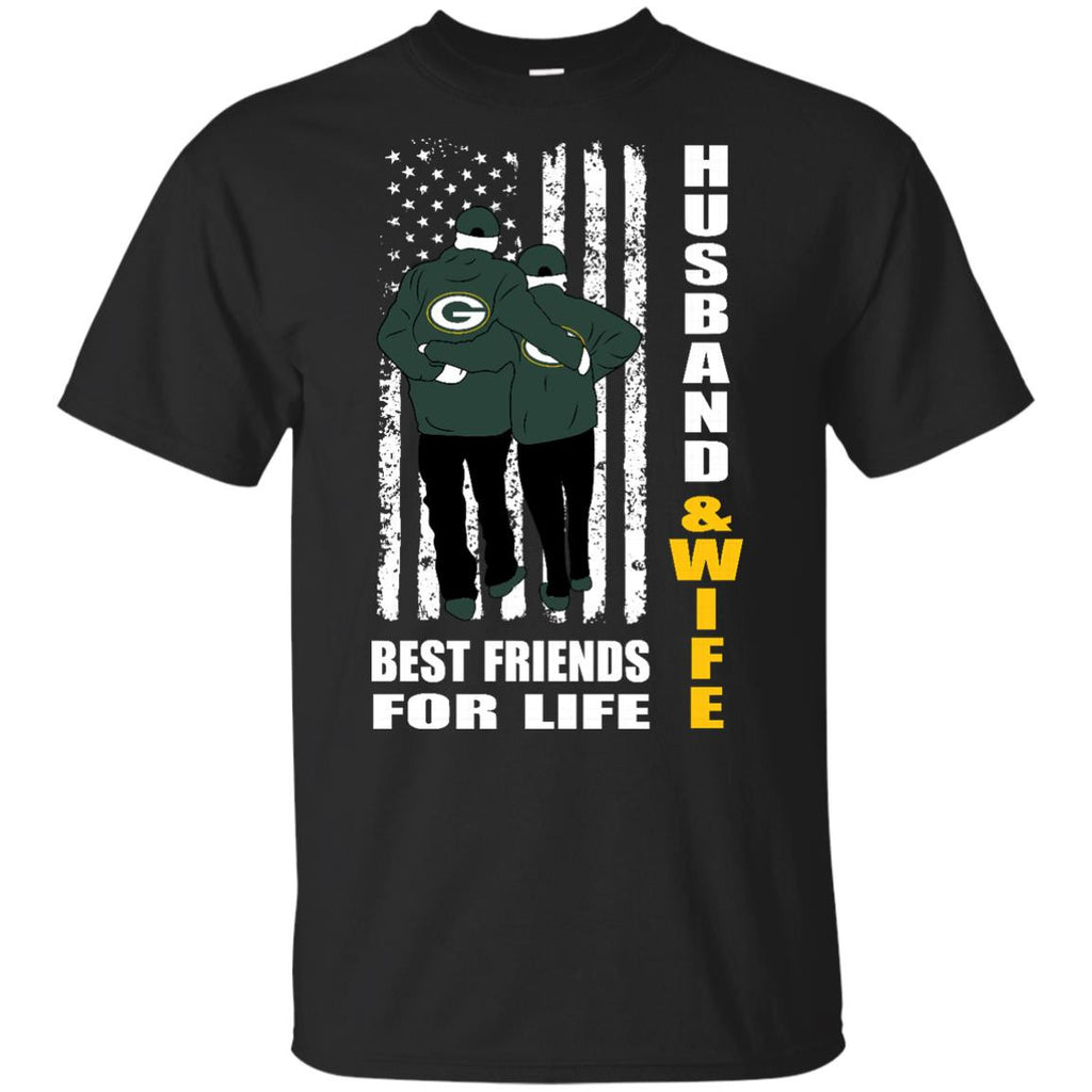 Husband And Wife Best Friends For Life Green Bay Packers T Shirt - Best Funny Store