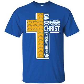 I Can Do All Things Through Christ Los Angeles Chargers T Shirts