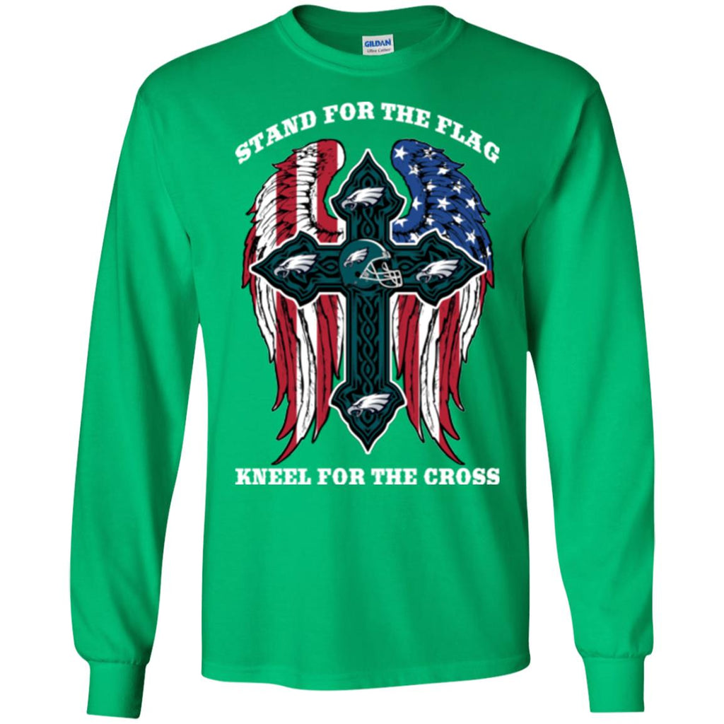 Stand For The Flag Kneel For The Cross Philadelphia Eagles T Shirts