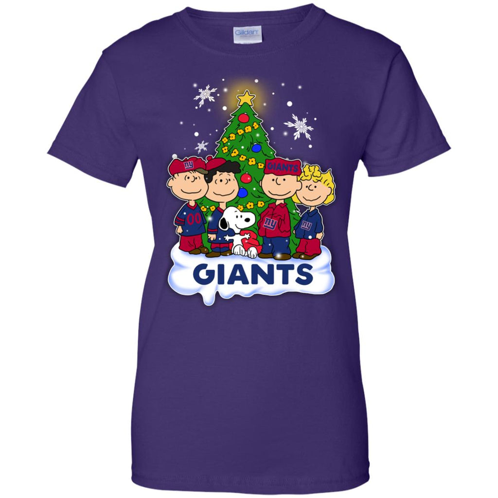 Snoopy The Peanuts New York Giants Christmas T Shirts