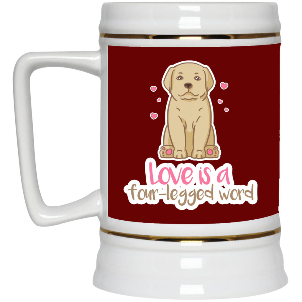 Labrador - Love Is A Four-legged Word Mugs