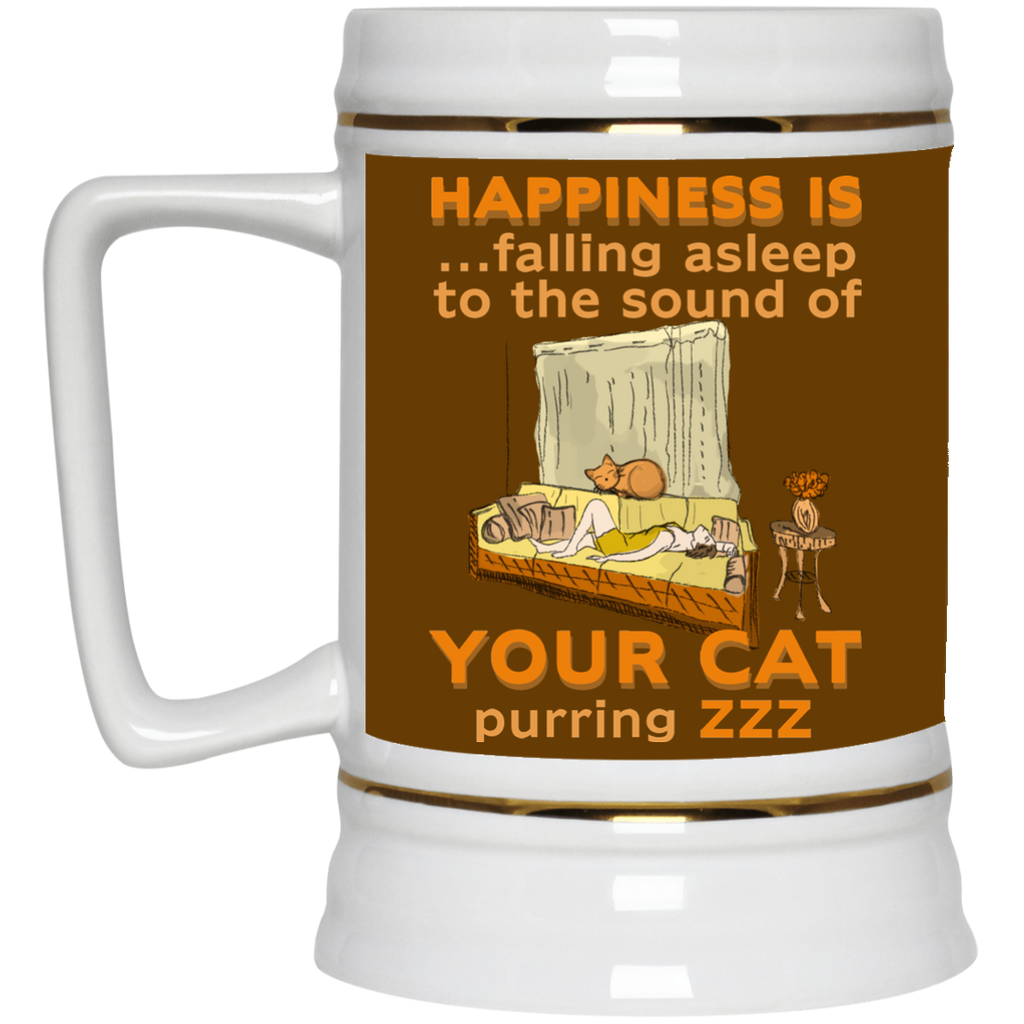Happiness Is Falling Asleep Mugs