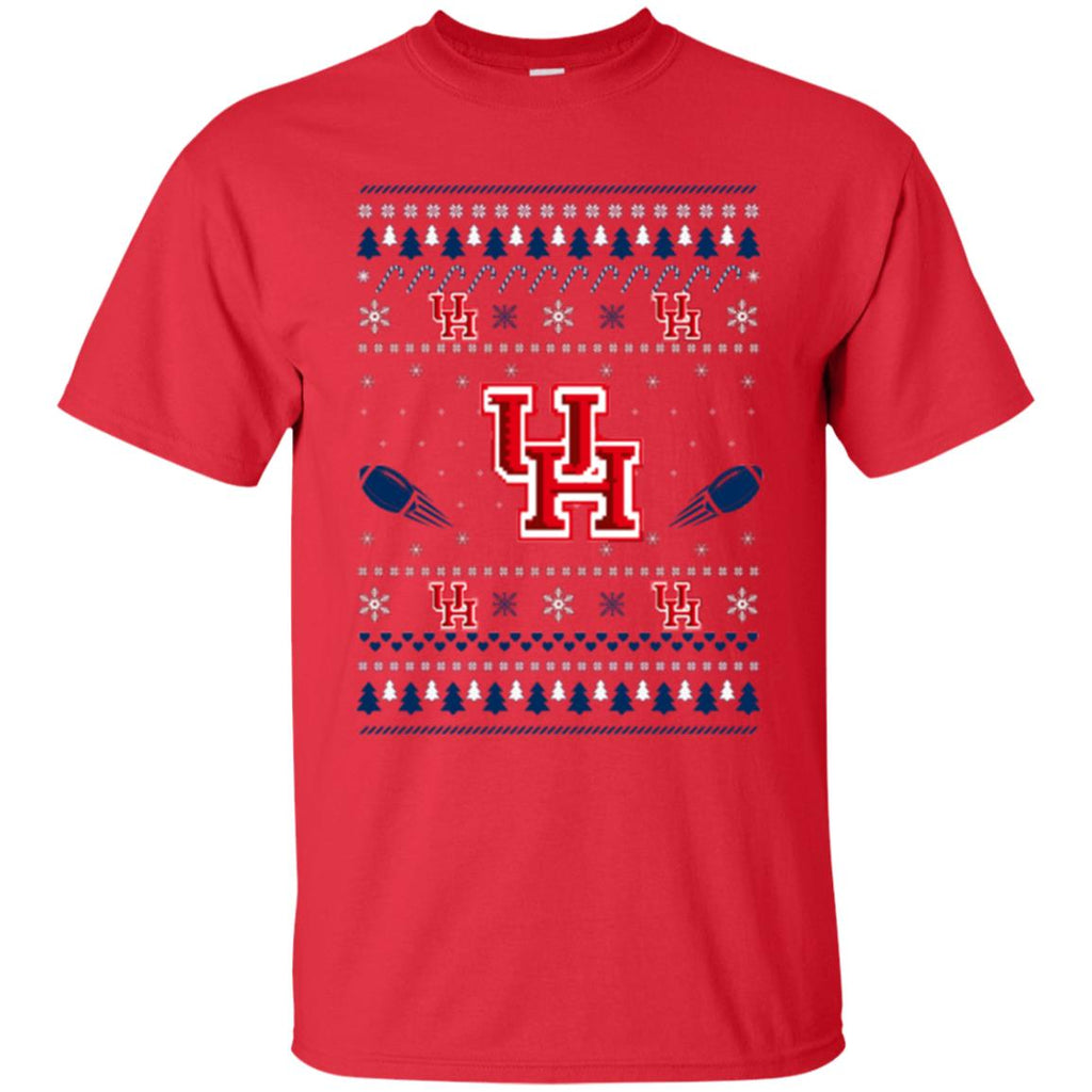 Houston Cougars Stitch Knitting Style Ugly T Shirts