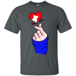 Heart Shape Husky T Shirts