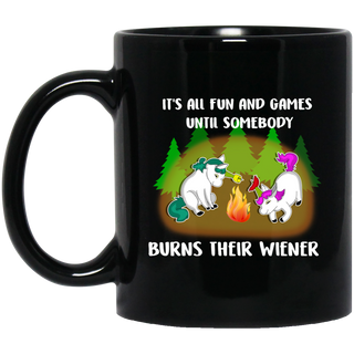 It's All Fun And Games Camping Unicorn Mugs