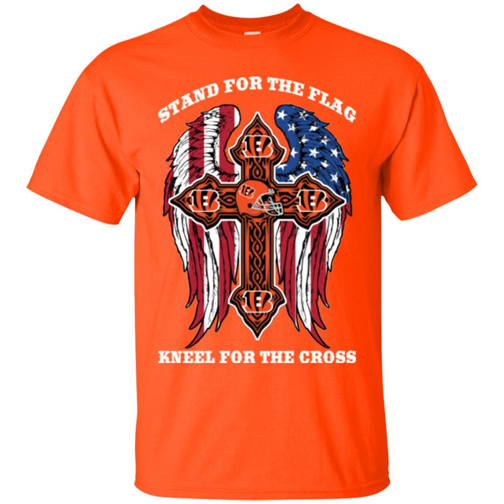 Stand For The Flag Kneel For The Cross Cincinnati Bengals T Shirts