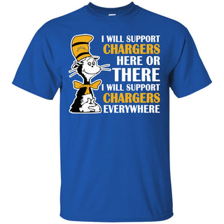 I Will Support Everywhere Los Angeles Chargers T Shirts