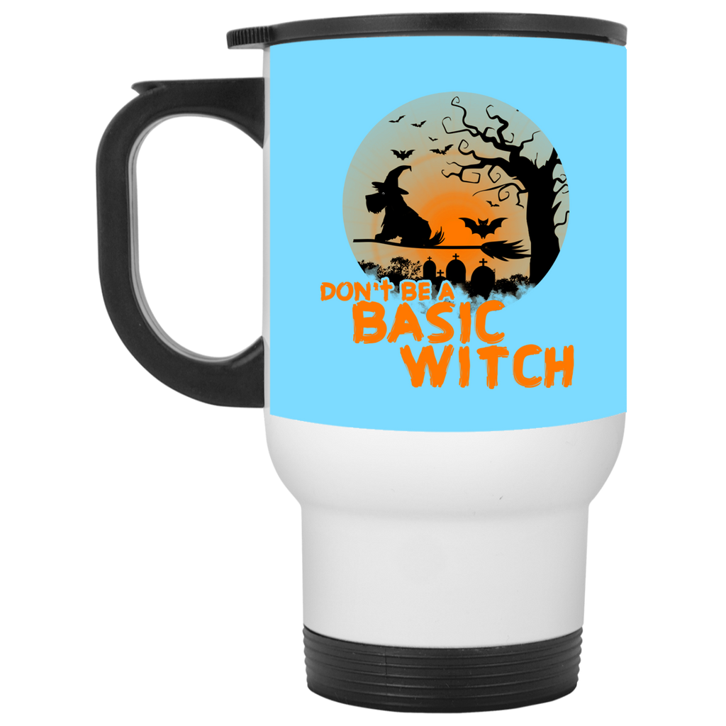 Don't Be A Basic Witch Schnauzer Travel Mugs