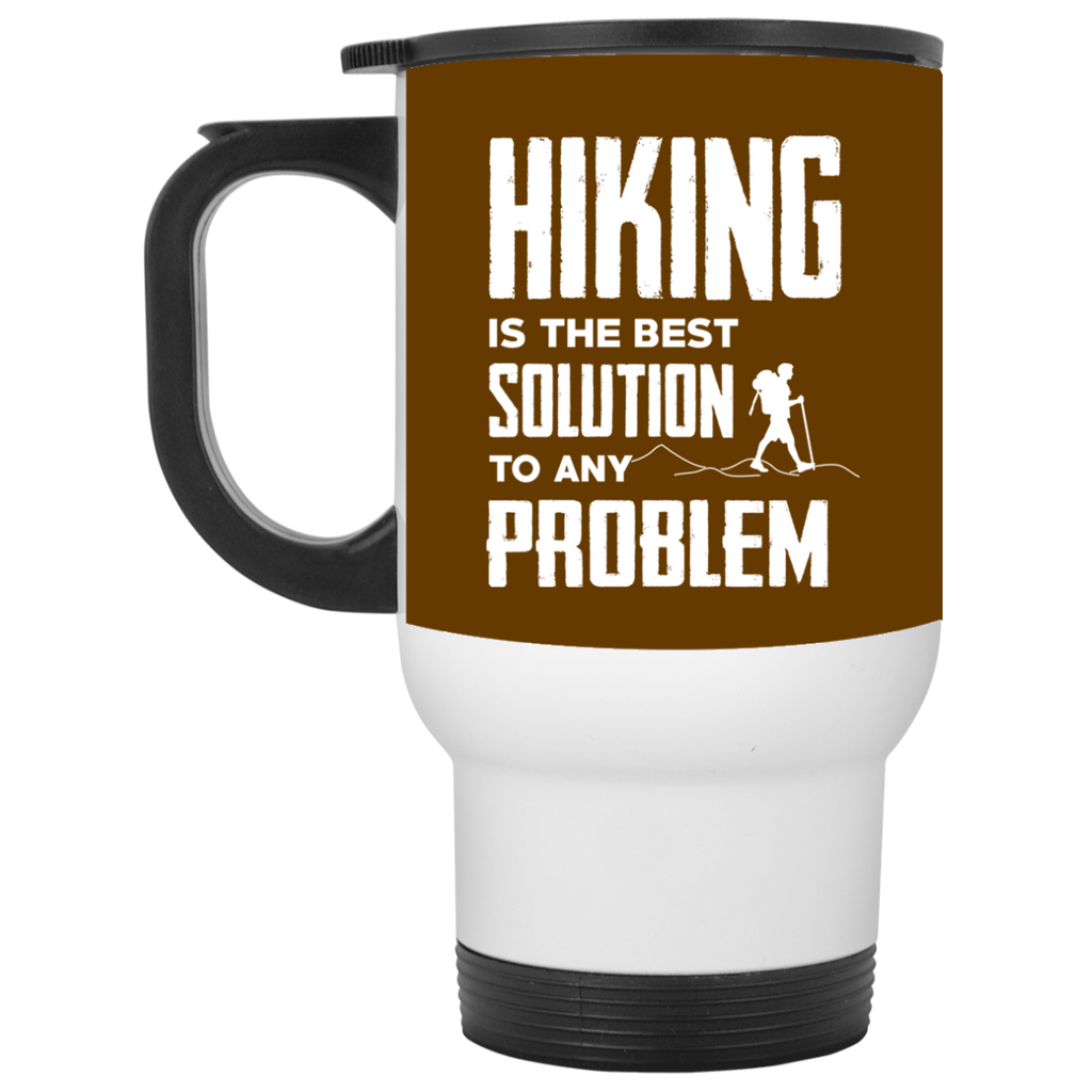 Hiking Is The Best Solution Mugs