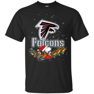 Snoopy Christmas Atlanta Falcons T Shirts