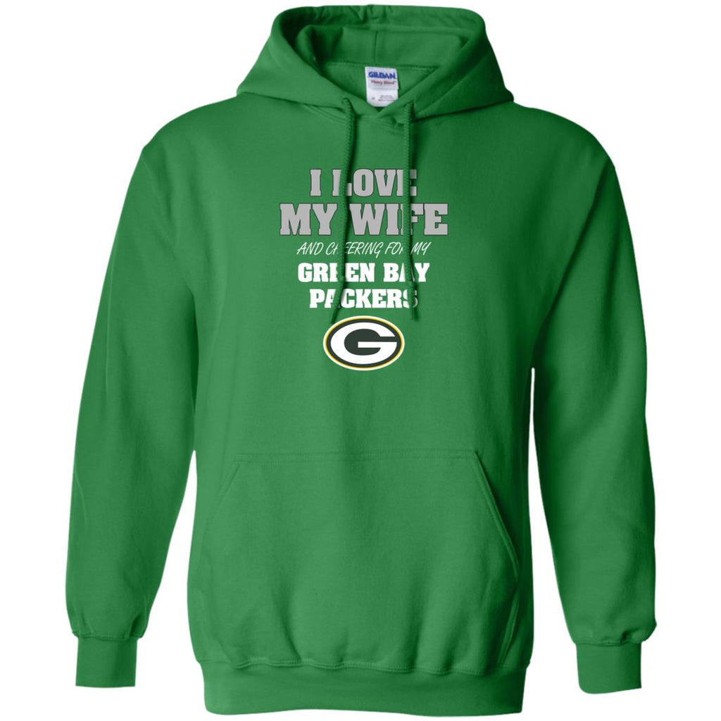 I Love My Wife And Cheering For My Green Bay Packers T Shirts
