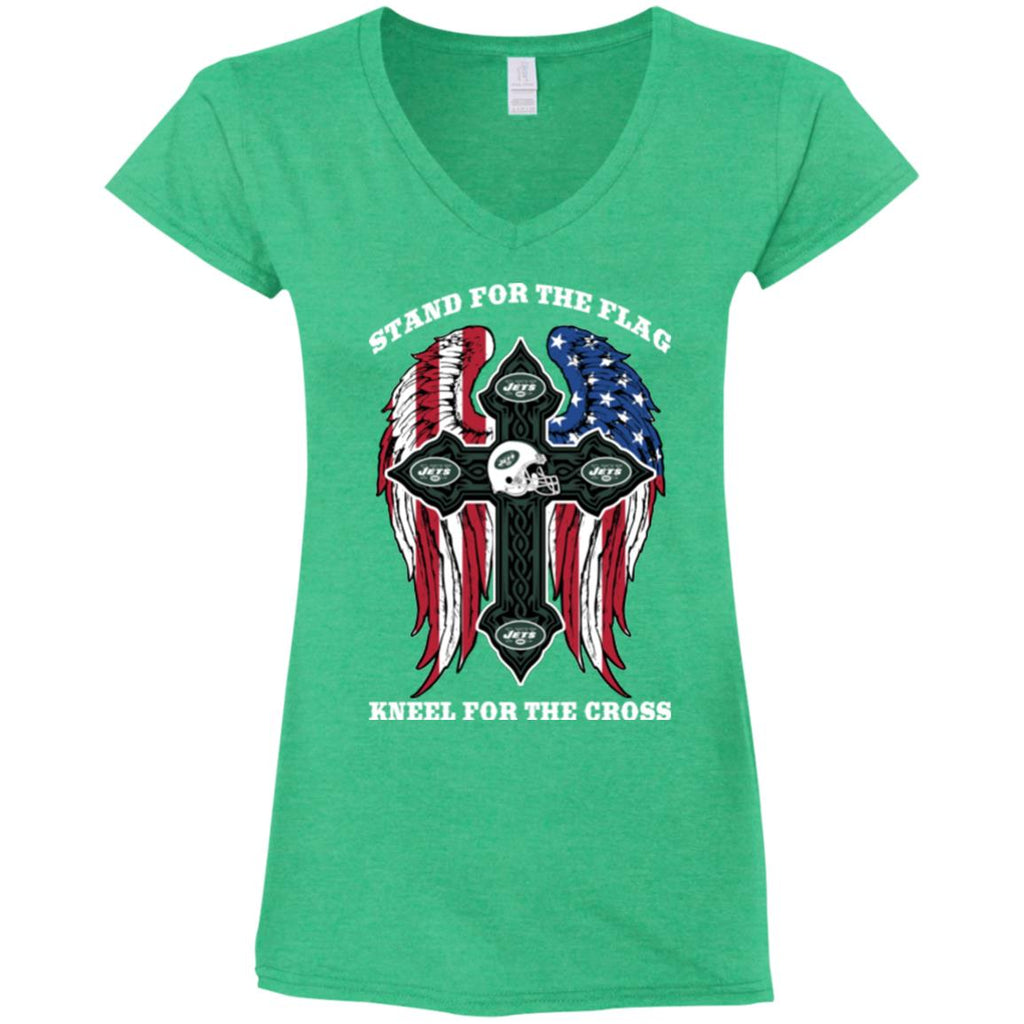 Stand For The Flag Kneel For The Cross New York Jets T Shirts
