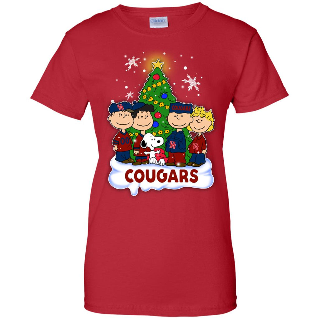 Snoopy The Peanuts Houston Cougars Christmas T Shirts