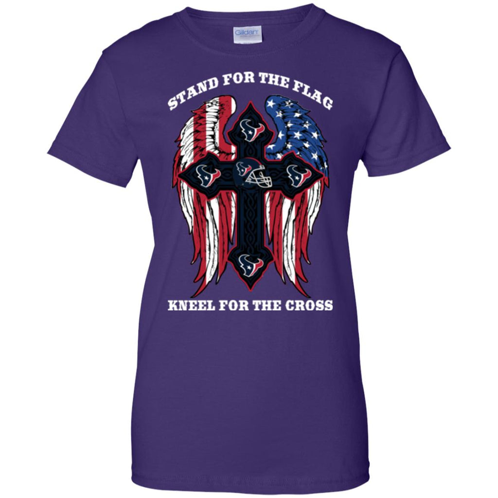 Stand For The Flag Kneel For The Cross Houston Texans T Shirts
