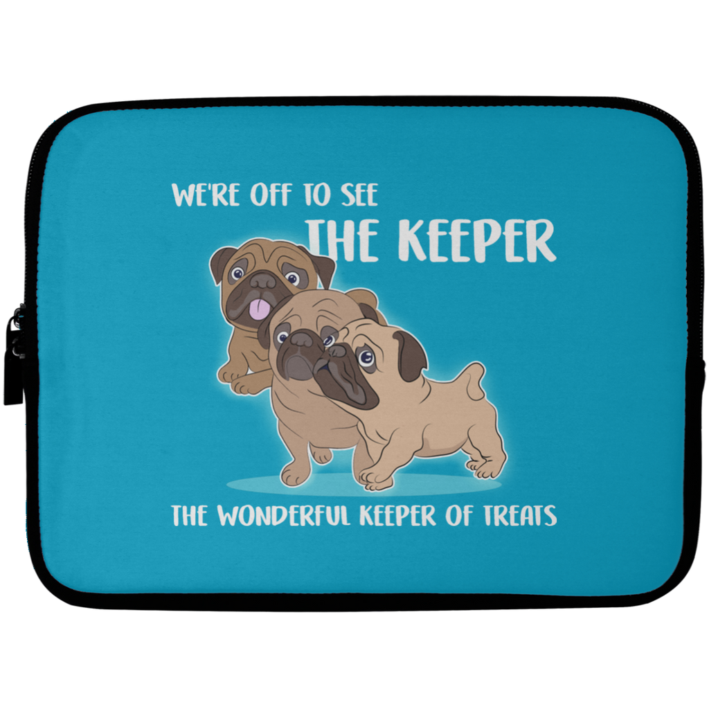We're Off To See The Keeper Pug Laptop Sleeves