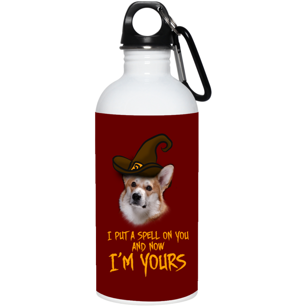 I Put A Spell On You Corgi Water Bottles