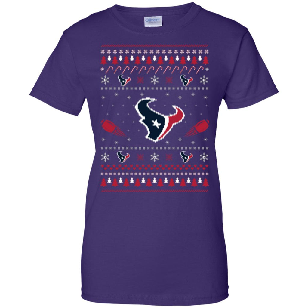 Houston Texans Stitch Knitting Style Ugly T Shirts