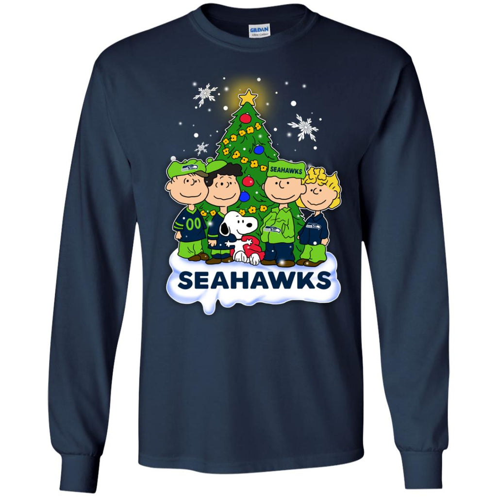 snoopy the peanuts seattle seahawks christmas sweaters - Seahawks Christmas Sweater