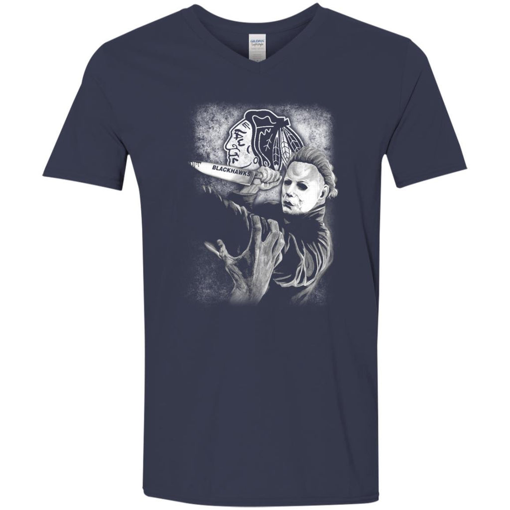 Michael Jason Myers Friday The 13th Chicago Blackhawks Halloween T Shirts - Best Funny Store