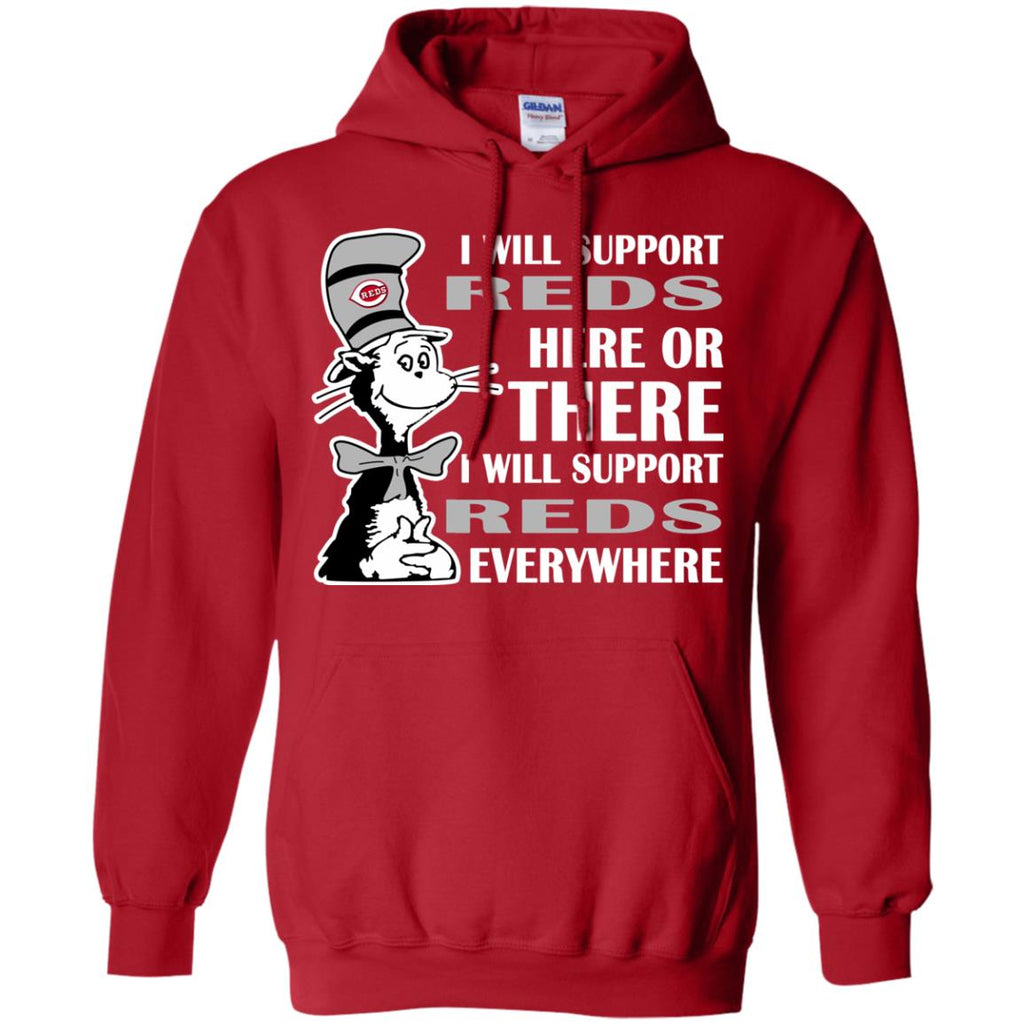I Will Support Everywhere Cincinnati Reds T Shirts