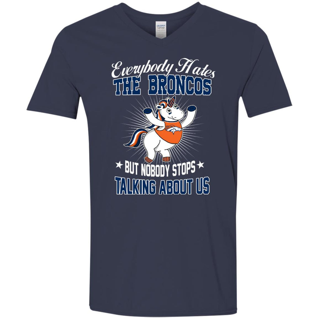 Nobody Stops Talking About Us Denver Broncos T Shirt - Best Funny Store