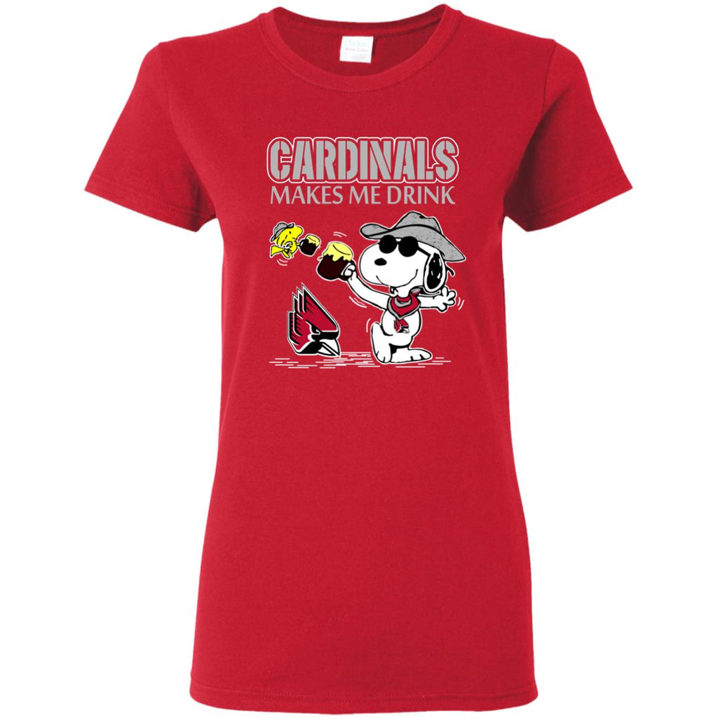 Ball State Cardinals Make Me Drinks T Shirts
