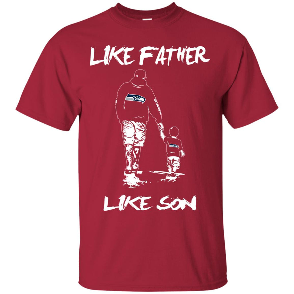 Like Father Like Son Seattle Seahawks T Shirt