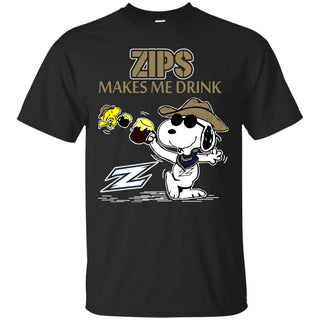 Akron Zips Make Me Drinks T Shirts