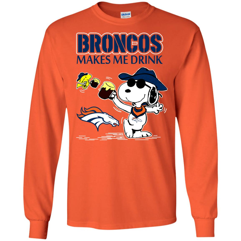 Denver Broncos Make Me Drinks T Shirts