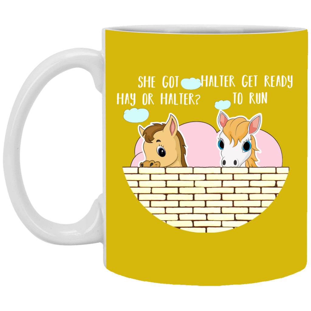 She Got Hay Or Halter Horse Mugs