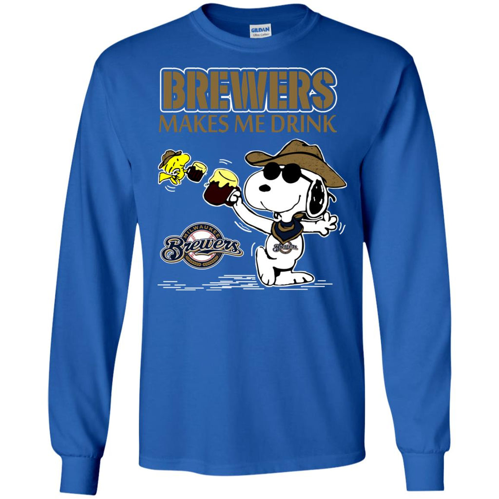 Milwaukee Brewers Makes Me Drinks T Shirts