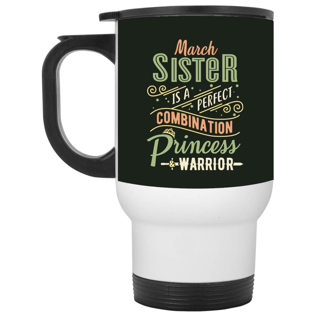 March Sister Combination Princess And Warrior Travel Mugs