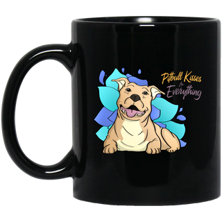 Pitbull Kisses Fix Everything Mugs