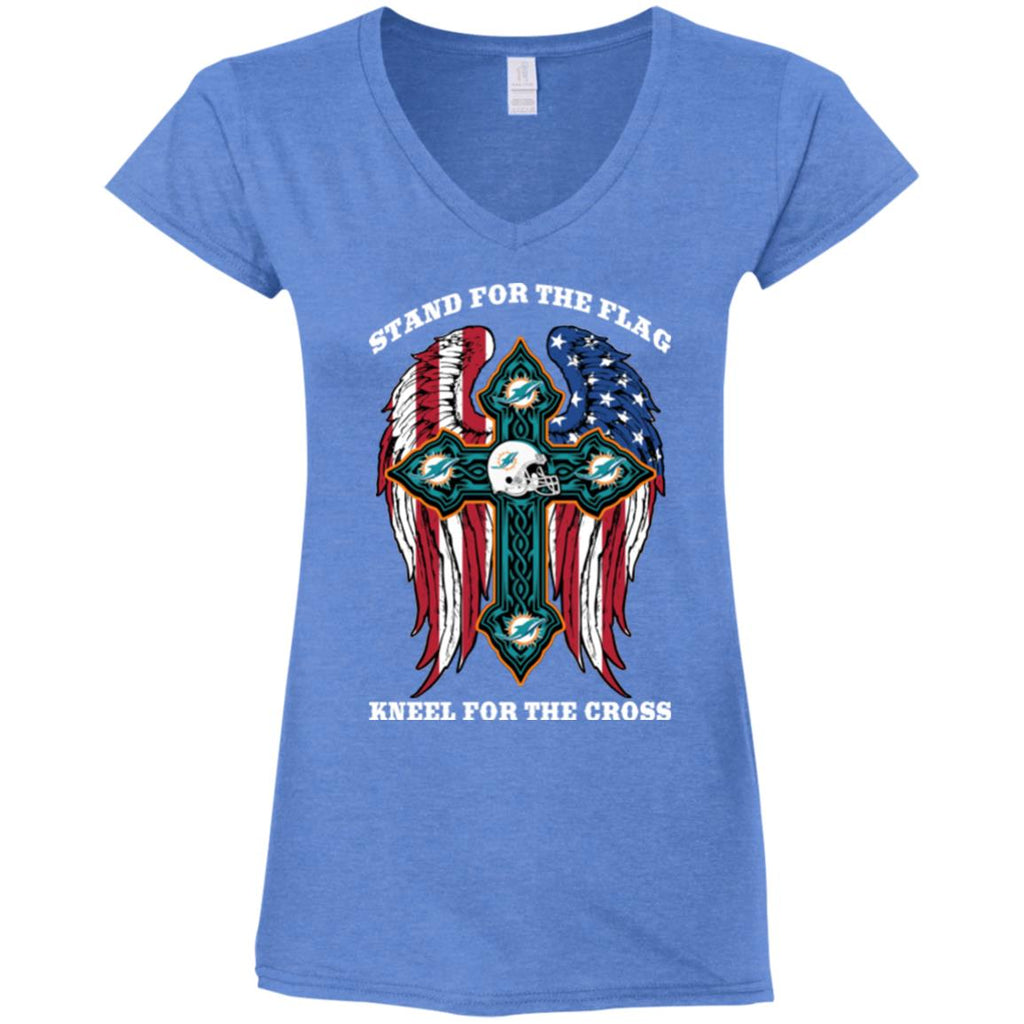 Stand For The Flag Kneel For The Cross Miami Dolphins T Shirts