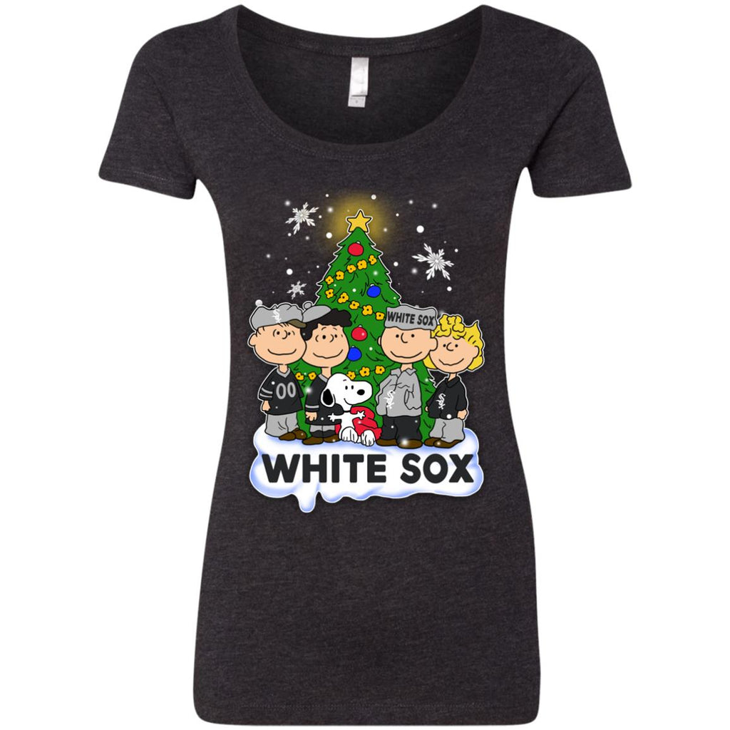 Snoopy The Peanuts Chicago White Sox Christmas T Shirts