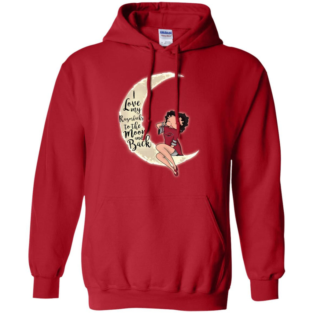 BB I Love My Arkansas Razorbacks To The Moon And Back T Shirt - Best Funny Store