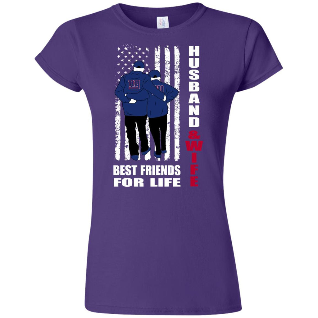 Husband And Wife Best Friends For Life New York Giants T Shirt - Best Funny Store