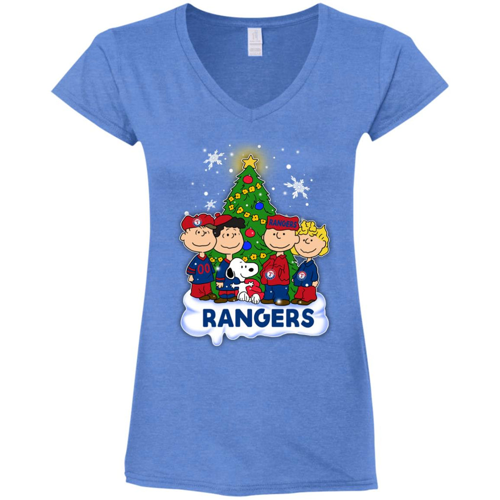 Snoopy The Peanuts Texas Rangers Christmas T Shirts