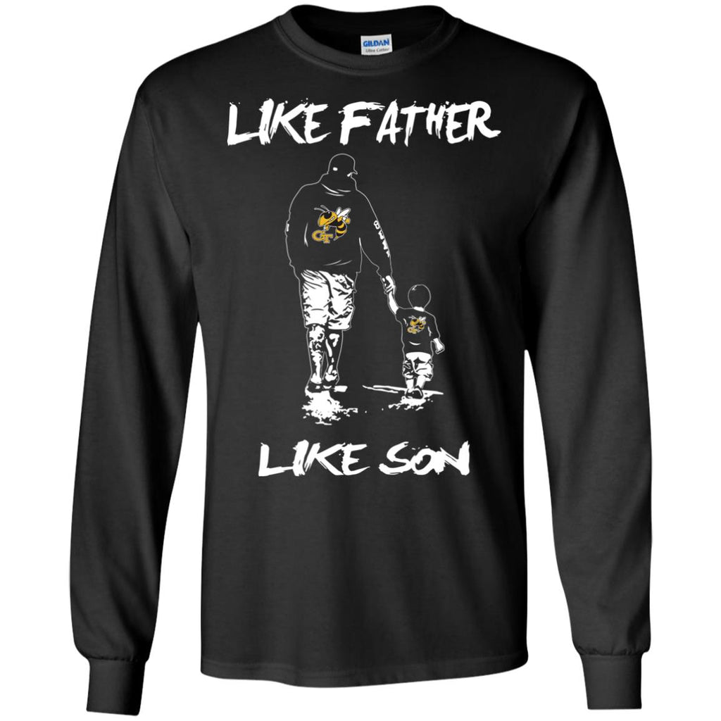 Like Father Like Son Georgia Tech Yellow Jackets T Shirt