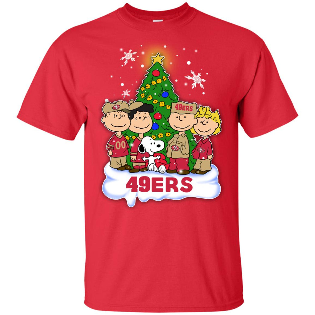 Snoopy The Peanuts San Francisco 49ers Christmas Tshirt For Fans