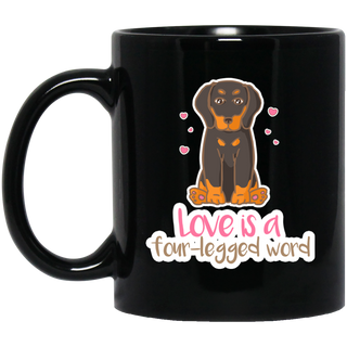 Dachshund - Love Is A Four-legged Word Mugs
