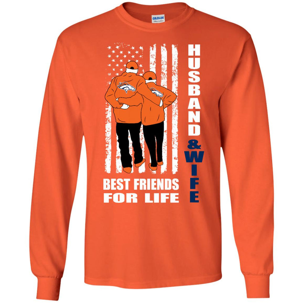 Husband And Wife Best Friends For Life Denver Broncos T Shirt - Best Funny Store