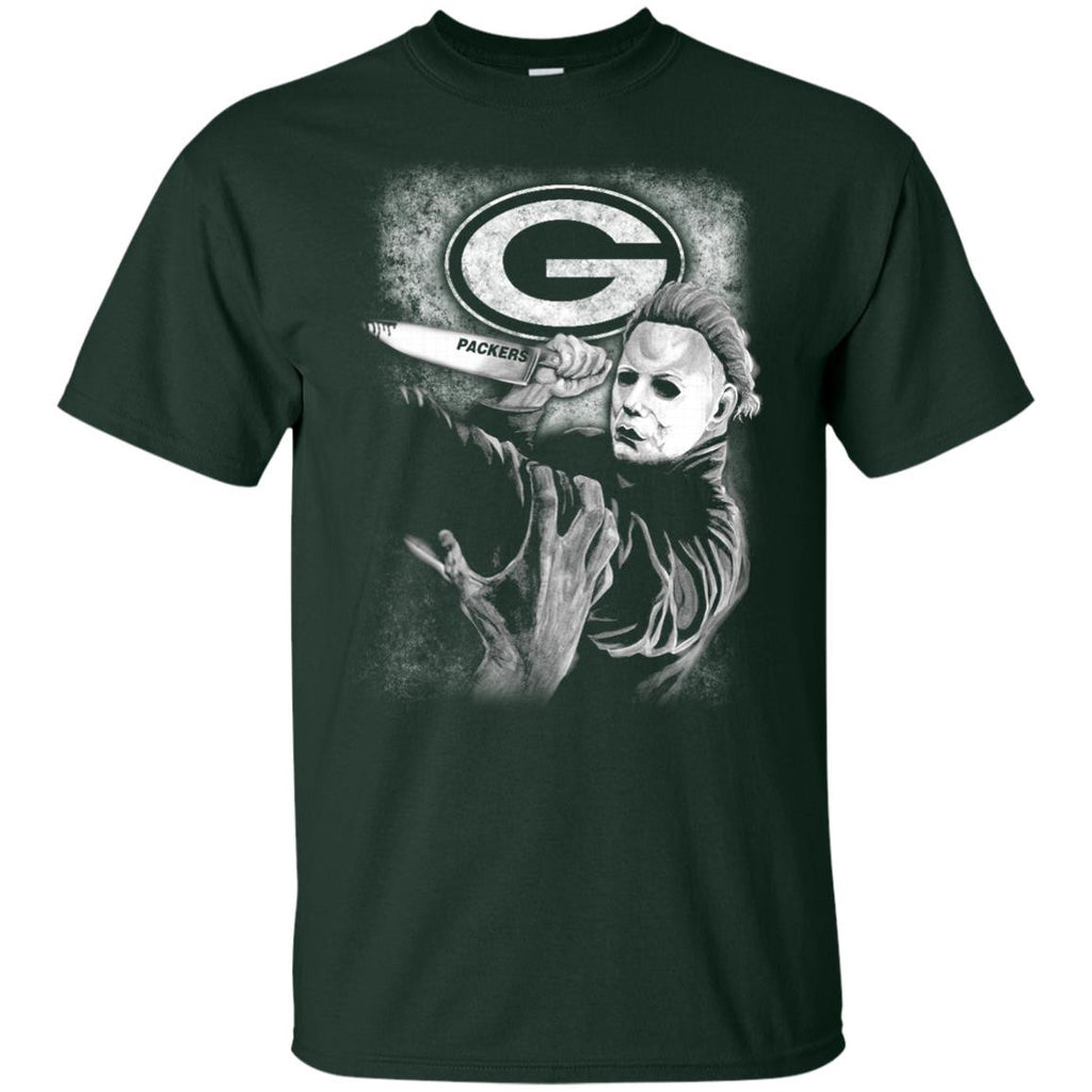 Michael Jason Myers Friday The 13th Green Bay Packers Halloween T Shirts - Best Funny Store
