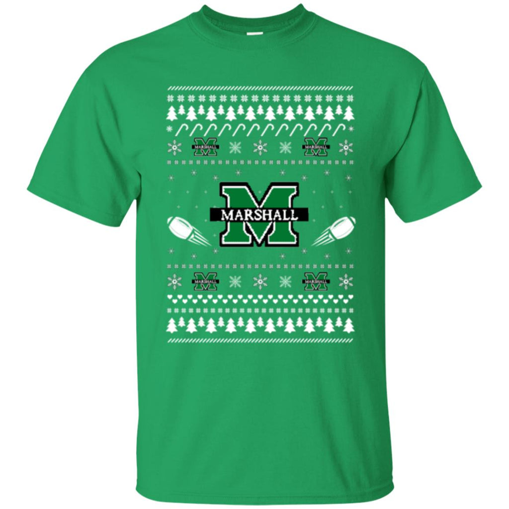 Marshall Thundering Herd Stitch Knitting Style Ugly T Shirts